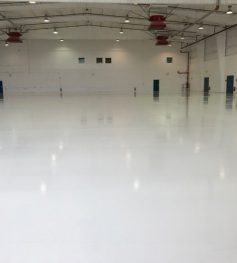epoxy floor airplane hangar