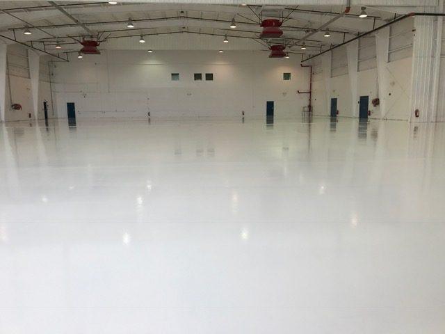 epoxy floor airplane hangar