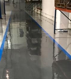 distribution epoxy flooring