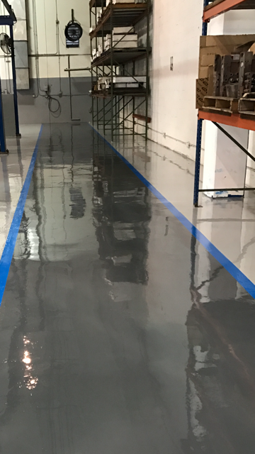 distribution epoxy flooring