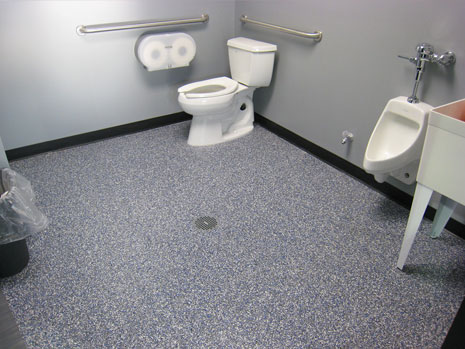 Commercial bathroom flooring